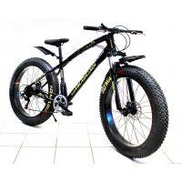 Велосипед внедорожный FAT BIKE 26'' спицы, оборудование Shimano, цвет черный