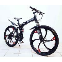 Велосипед горный LAND ROVER green bike 26'' литые диски, оборудование Shimano, цвет черный матовый