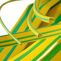Термоусаживаемая трубка 10/5, желто-зеленая, 1 метр (SBE-HST-10-yg)