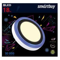 Встраиваемый (LED) светильник с подсветкой DLB Smartbuy-18w/3000K+B/IP20 (SBL-DLB-18-3K-B)