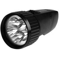 Аккумуляторный светодиодный фонарь 5 LED с прямой зарядкой Smartbuy, черный (SBF-44-B)/40