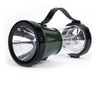 Аккумуляторный кемпинговый фонарь 2 в 1 1Вт+17LED, зеленый (SBF-45-G)/40
