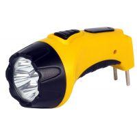 Аккумуляторный светодиодный фонарь 4 LED с прямой зарядкой Smartbuy, желтый (SBF-84-Y)
