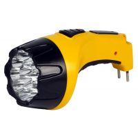 Аккумуляторный светодиодный фонарь 15 LED с прямой зарядкой Smartbuy, желтый (SBF-85-Y)/50