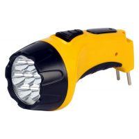 Аккумуляторный светодиодный фонарь 7 LED с прямой зарядкой Smartbuy, желтый (SBF-86-Y)/60
