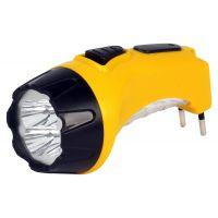 Аккумуляторный светодиодный фонарь 4+6 LED с прямой зарядкой Smartbuy, желтый (SBF-87-Y)/120