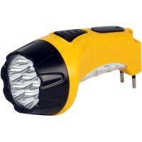 Аккумуляторный светодиодный фонарь 7+8 LED с прямой зарядкой Smartbuy, желтый (SBF-88-Y)/60
