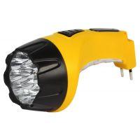 Аккумуляторный светодиодный фонарь 15+10 LED с прямой зарядкой Smartbuy, желтый (SBF-89-Y)/60