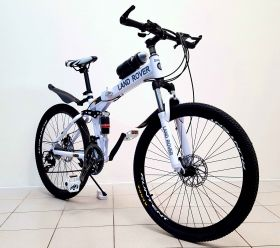 Велосипед горный LAND ROVER green bike 26'' литые диски, оборудование Shimano, цвет белый