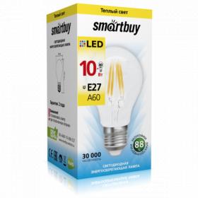 Светодиодная (LED) Лампа FIL Smartbuy-A60-8W/3000/E27